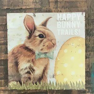 NWT Happy Bunny Trails! Box Sign